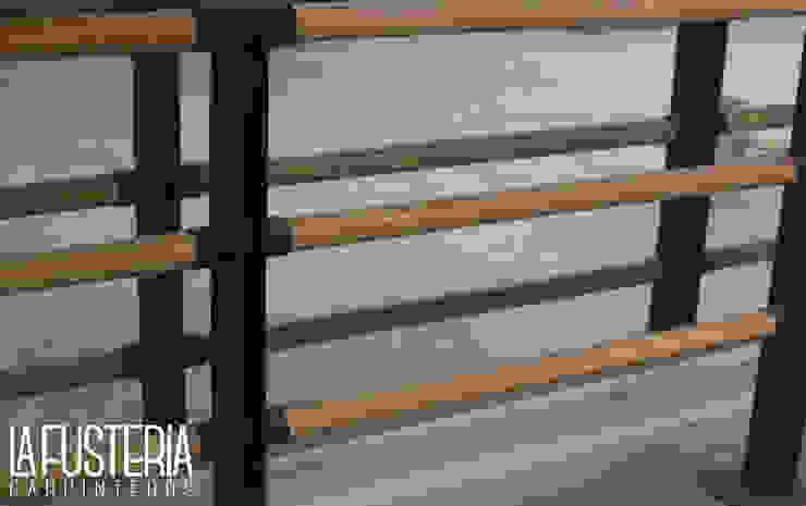 Barandal de Encino Gimnasios domésticos modernos de La Fustería - Carpinteros Moderno