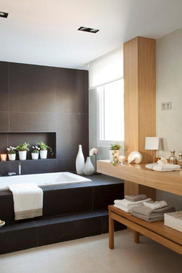20 m2 de baño Baños de estilo rústico de Disak Studio Rústico