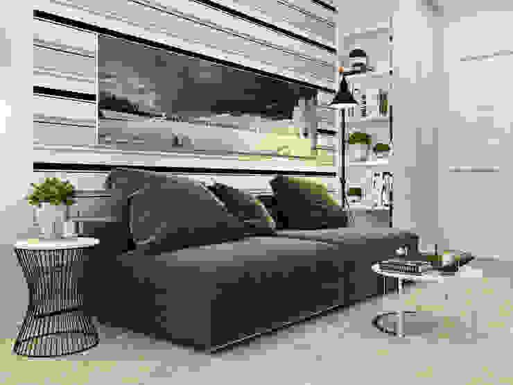 Salas de estilo minimalista de Сергей Харенко Minimalista