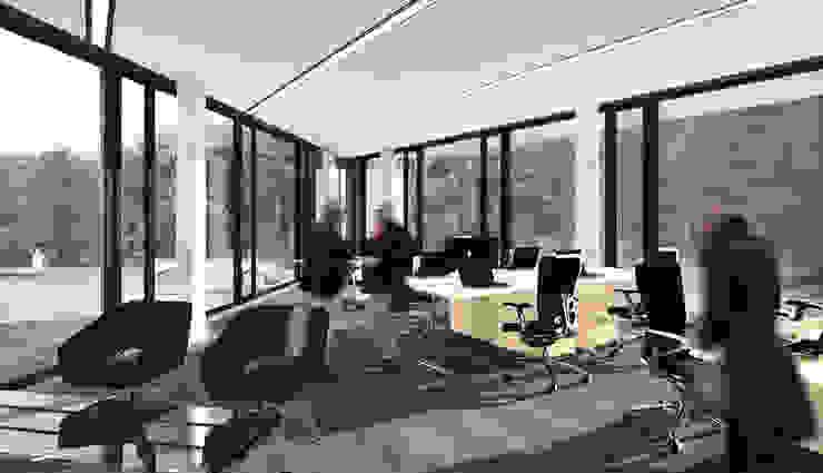 QUARTZ - wizualizacja wnętrza 2 od Easst.com Industrialny