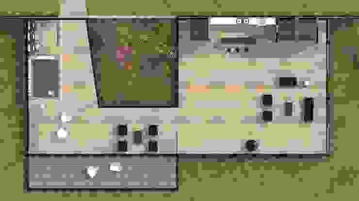 Pavilhão Jardim das Palmeiras Salas de estar modernas por ODVO Arquitetura e Urbanismo Moderno