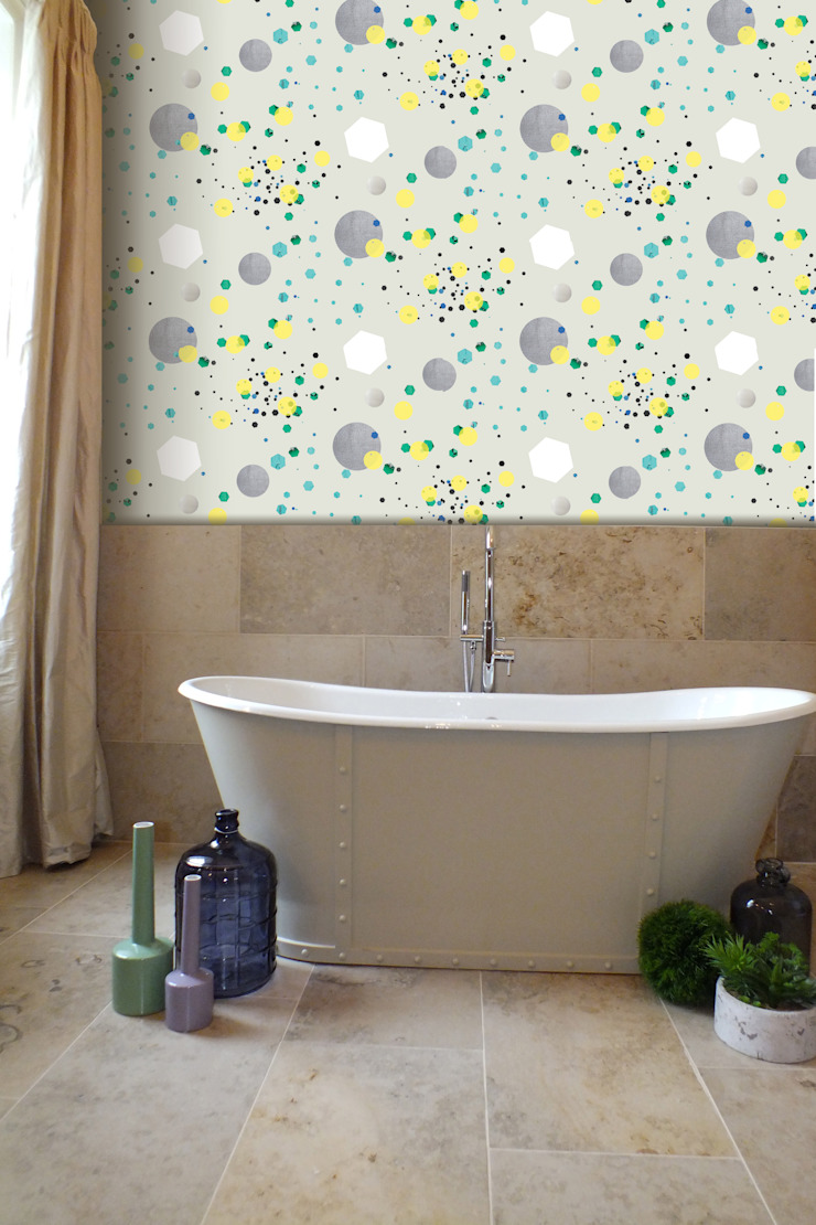 Glitter Canon Wallpaper: modern  by Kate Usher Studio, Modern