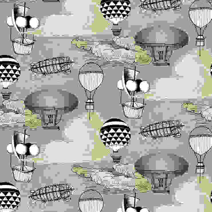 Aeronaut Wallpaper by Kate Usher Studio: modern  by Kate Usher Studio, Modern