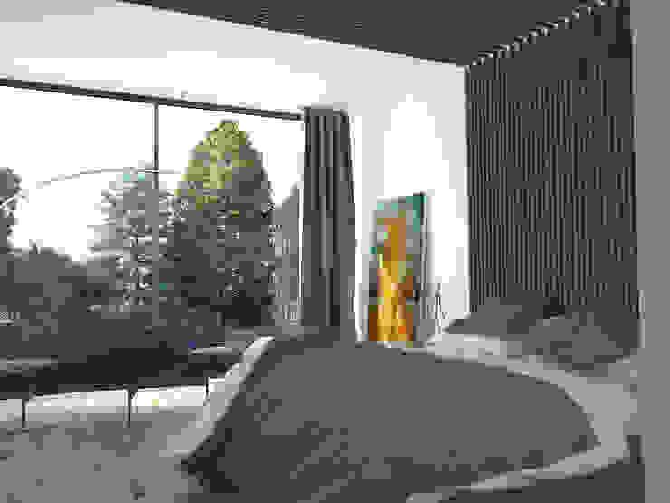 Дом-бетон Спальня в стиле минимализм от Grynevich Architects Минимализм