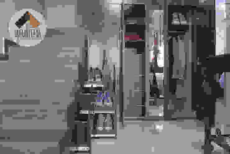 Couloir et hall d'entrée de style  par La Fustería - Carpinteros