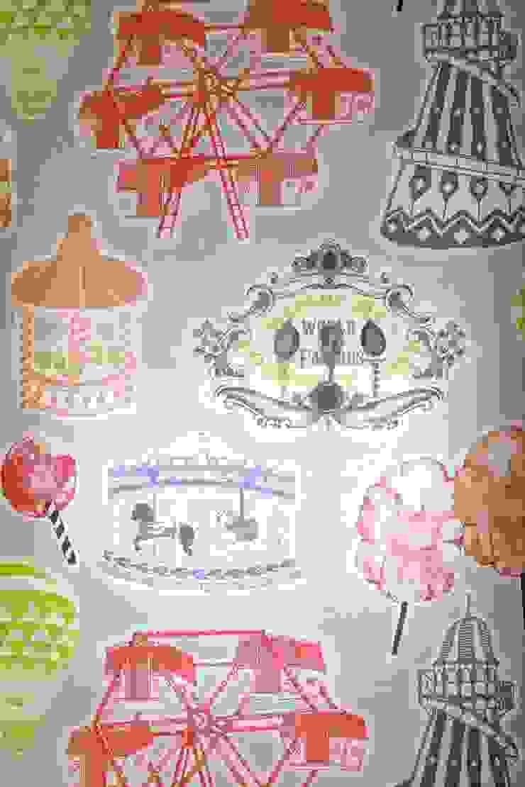 Fair Enough Wallpaper by Kate Usher Studio: modern  by Kate Usher Studio, Modern