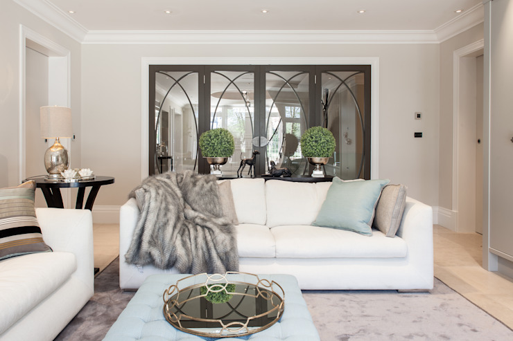Photography for Kingshall Estates / Vastu Interiors—House in Northwood, London Modern living room by Adelina Iliev Photography Modern