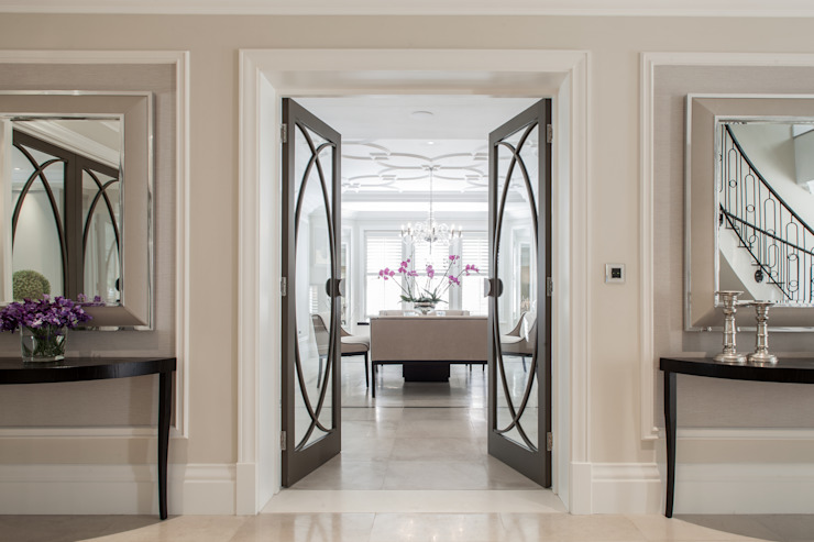 Photography for Kingshall Estates / Vastu Interiors—House in Northwood, London Modern corridor, hallway & stairs by Adelina Iliev Photography Modern