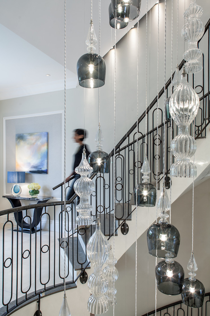 Photography for Kingshall Estates / Vastu Interiors - House in Northwood, London Modern corridor, hallway & stairs by Adelina Iliev Photography Modern