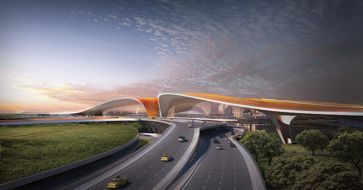 Beijing Daxing International Airport od Zaha Hadid Architects Azjatycki