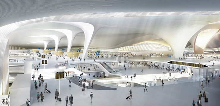Beijing Daxing International Airport Asian style airports by Zaha Hadid Architects Asian