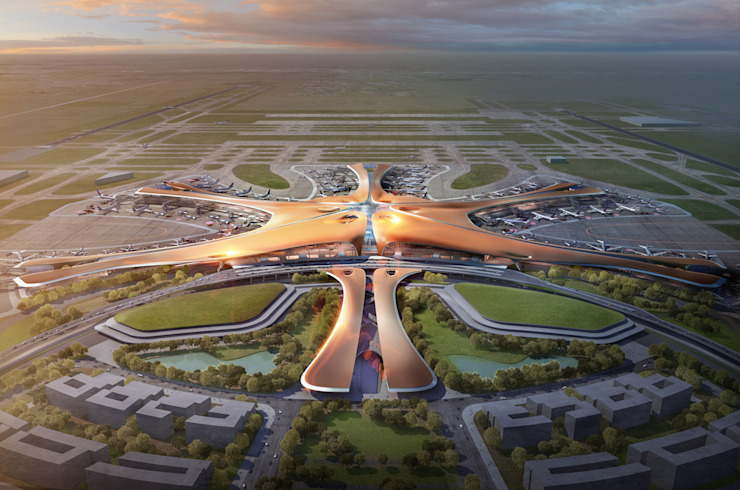 Beijing Daxing International Airport de Zaha Hadid Architects Asiático