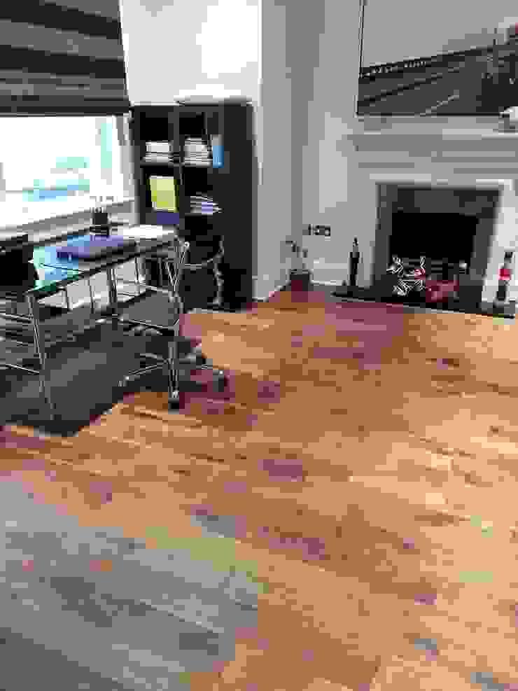 Engineered Walnut Flooring Modern study/office by The Prestige Flooring Company Modern