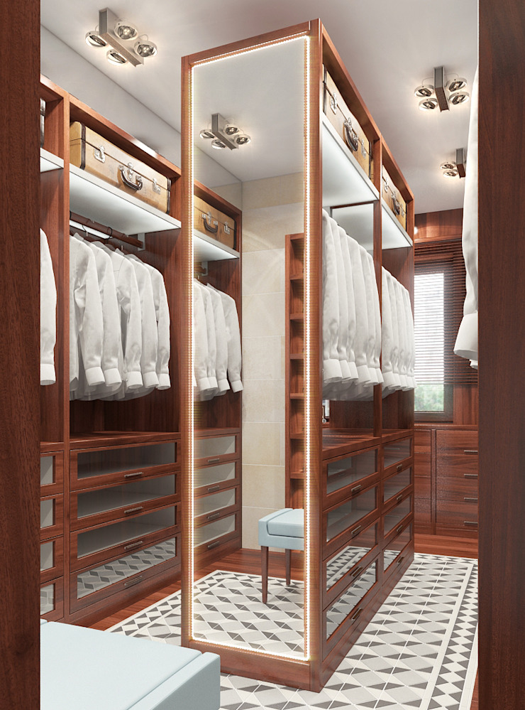 Colonial style dressing rooms by FEDOROVICH Interior Colonial