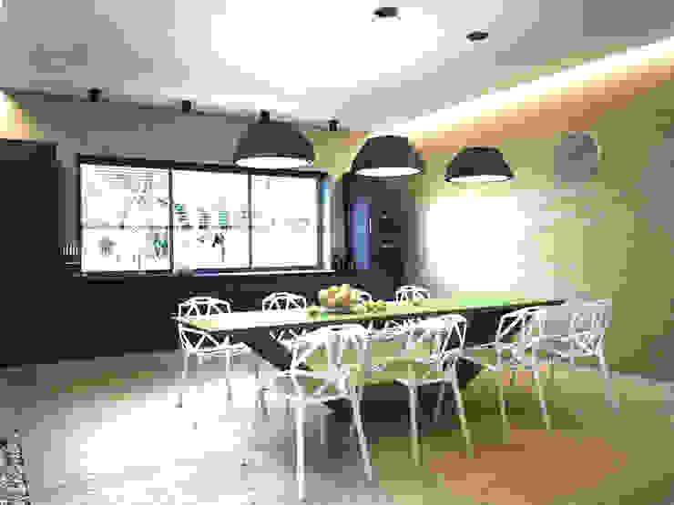 ЭНЕРГОЭФФЕКТИВНЫЙ ДОМ ГР-2 Кухня в стиле минимализм от Grynevich Architects Минимализм