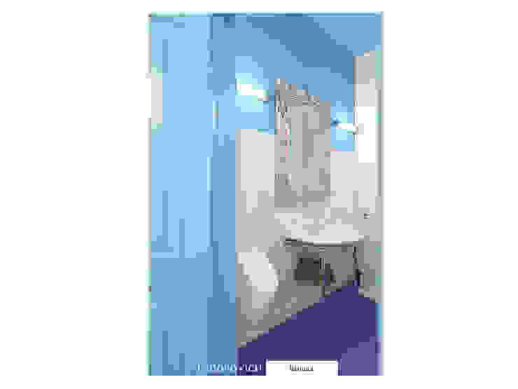 Лавандово-лазурный прованс с парижским акцентом Ванная комната в стиле кантри от FEDOROVICH Interior Кантри