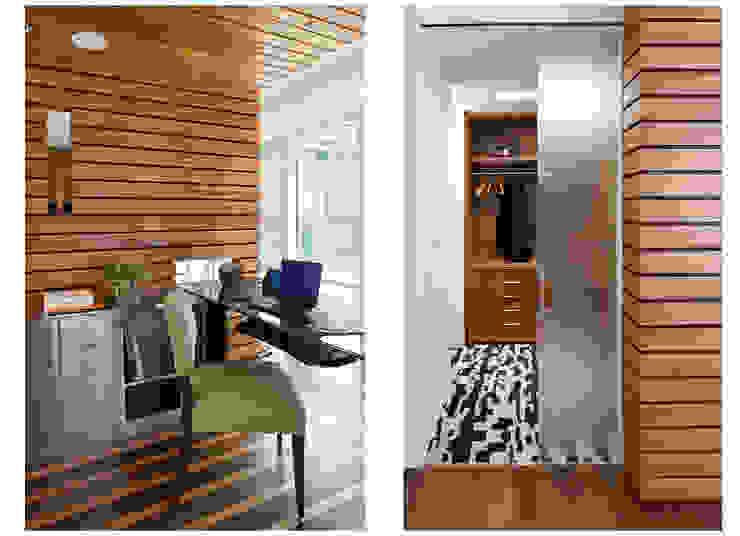 Study & closet Modern Study Room and Home Office by Eisner Design Modern