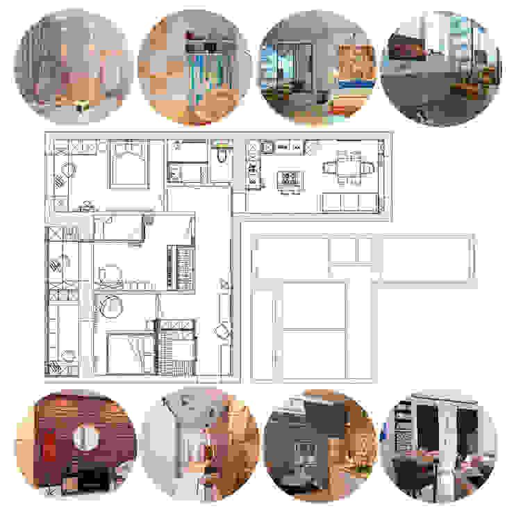 Проект трехкомнатной компактной квартиры: Стены в . Автор – Katerina Butenko, Эклектичный