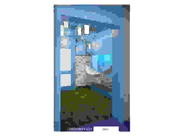 Лавандово-лазурный прованс с парижским акцентом Коридор, прихожая и лестница в стиле кантри от FEDOROVICH Interior Кантри