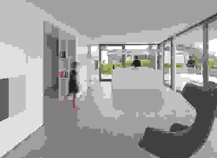 Minimalistische woonkamers van ern+ heinzl Architekten Minimalistisch