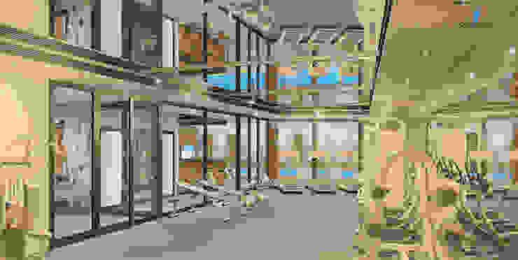 YILDIZ PLAZA PREMIUM Modern Fitness Odası Çağrı Aytaş İç Mimarlık İnşaat Modern