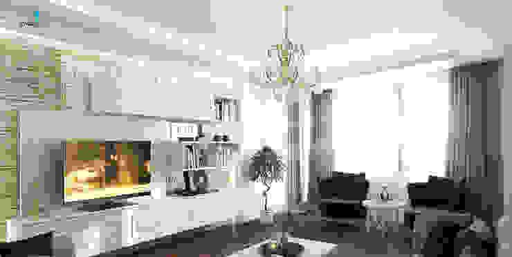 Çağrı Aytaş İç Mimarlık İnşaat – YILDIZ PLAZA PREMIUM:  tarz Oturma Odası,