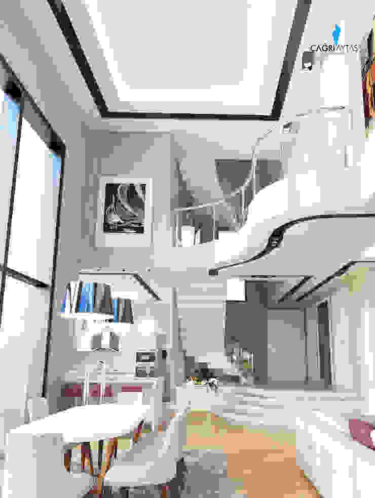 HANEDAN KONUTLARI Modern Oturma Odası Çağrı Aytaş İç Mimarlık İnşaat Modern