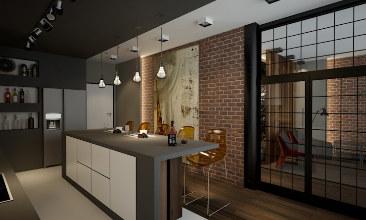 Room Краснодар Industrial style kitchen