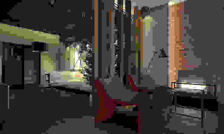 Квартира 200 кв.м. ЖК Европейский г. Краснодар Гостиная в стиле лофт от Room Краснодар Лофт