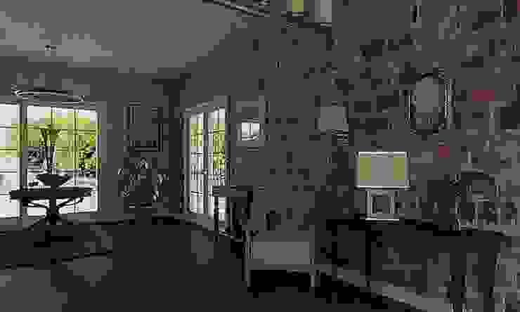 Casa pared de ladrillo Salones de estilo clásico de MGC Diseño de Interiores Clásico