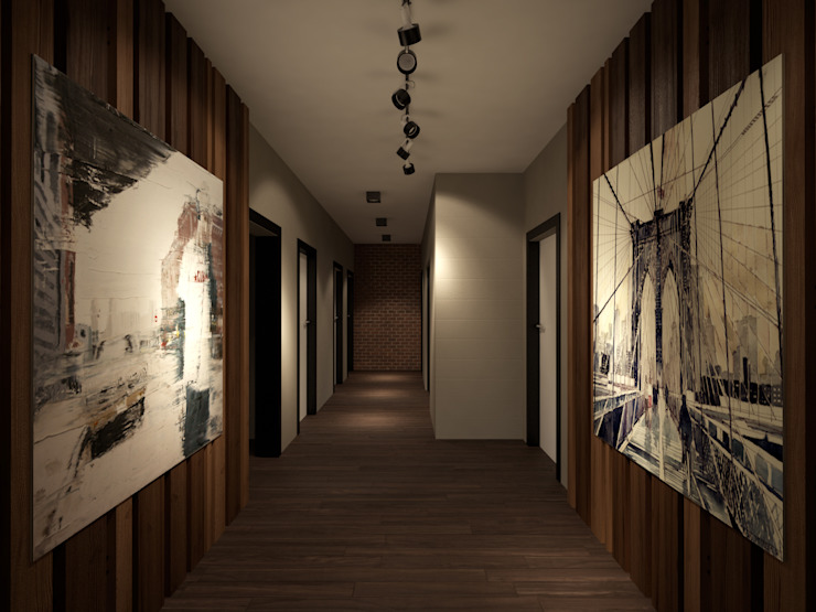Room Краснодар Pang-industriya na corridors estilo, Pasilyo & Hagdan