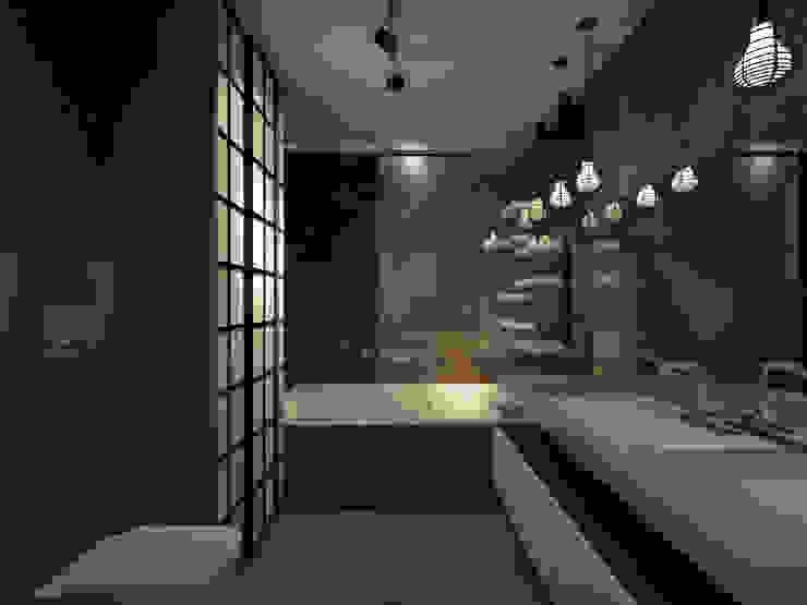 Квартира 200 кв.м. ЖК Европейский г. Краснодар Ванная в стиле лофт от Room Краснодар Лофт