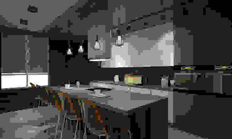 Квартира 200 кв.м. ЖК Европейский г. Краснодар Кухня в стиле лофт от Room Краснодар Лофт