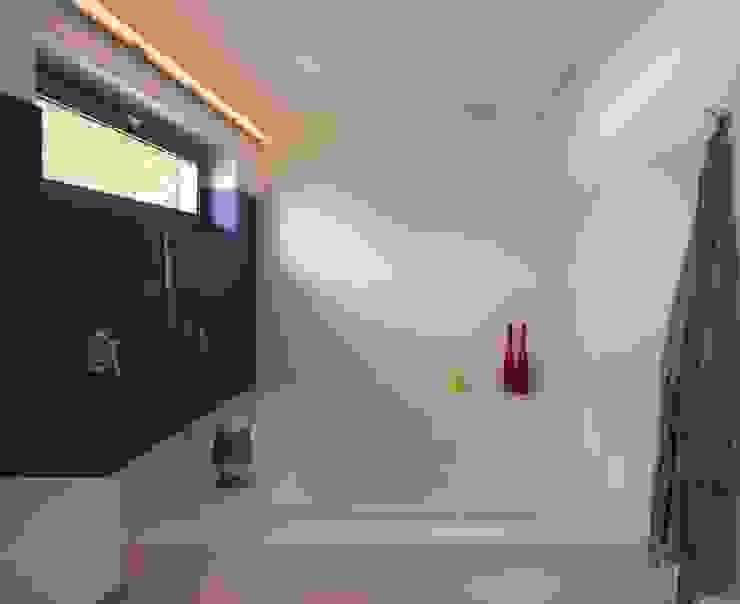 Ruim bad:  Badkamer door Leonardus interieurarchitect,