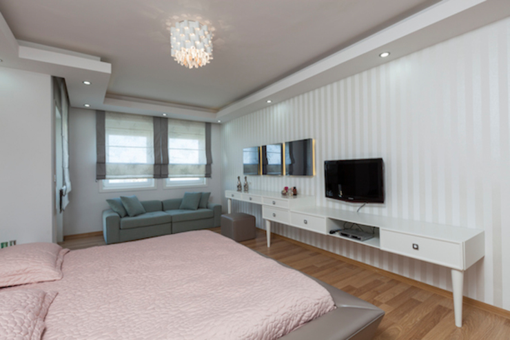 Спальня в стиле модерн от Mimoza Mimarlık Модерн