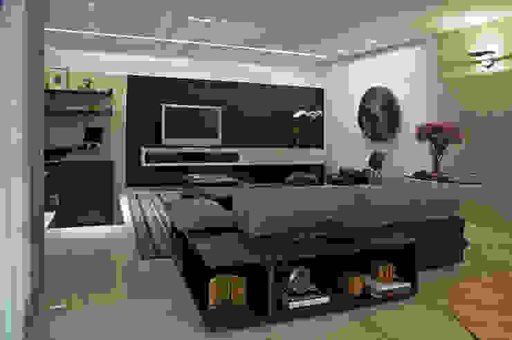 APARTAMENTO BELVEDERE Salas de estar modernas por João Carlos Moreira Filho & Maria Thereza Terence Moderno