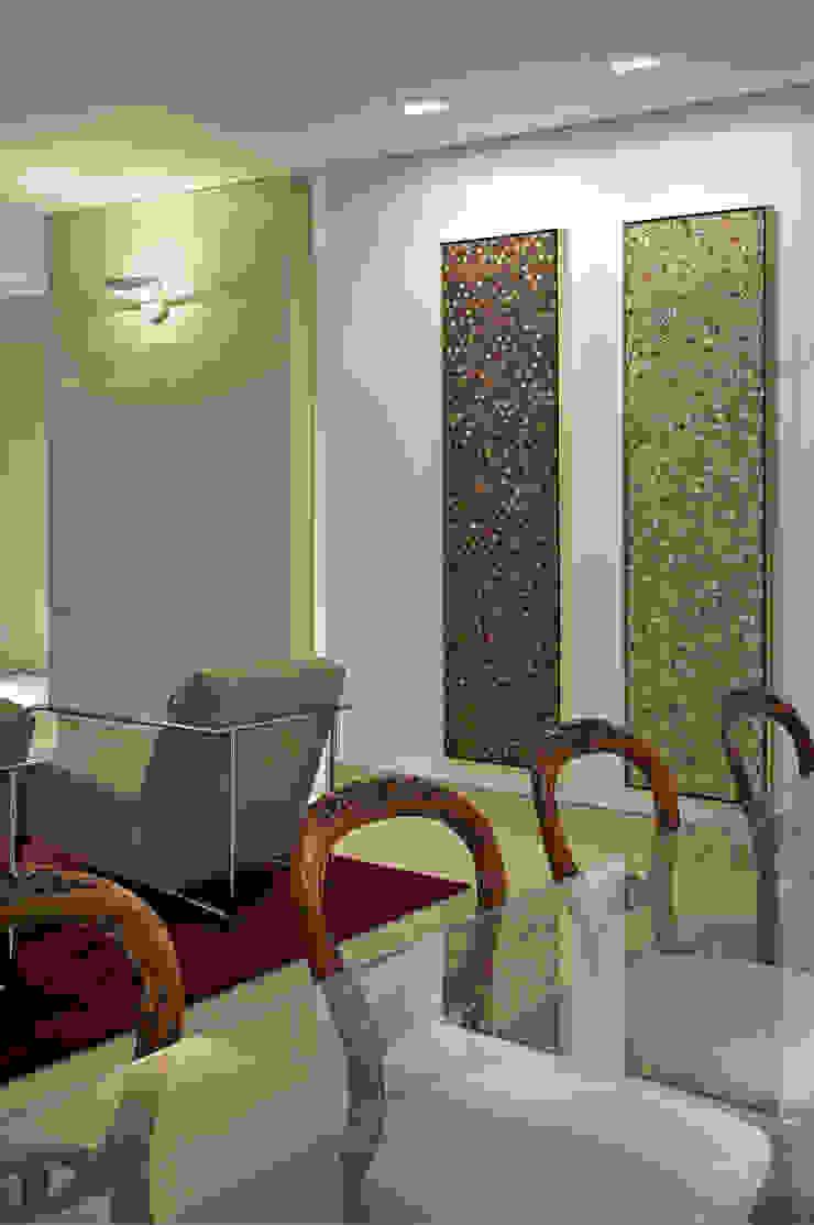 APARTAMENTO BELVEDERE Salas de jantar modernas por João Carlos Moreira Filho & Maria Thereza Terence Moderno