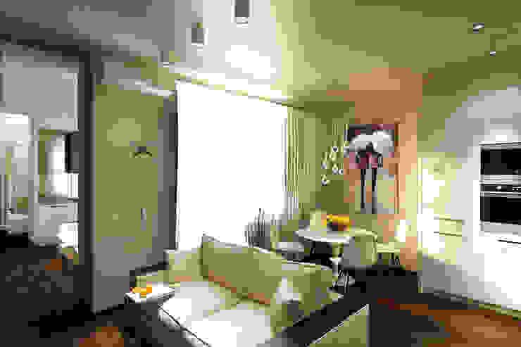 Minimalist dining room by Творческая мастерская дизайна интерьера Анны Першаковой Minimalist
