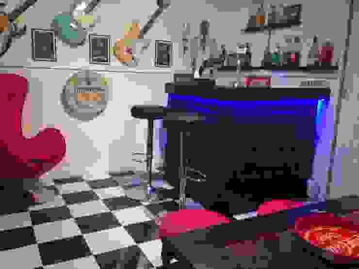 An example of our upholstered range of bars Modern Media Room by shaun.roper Modern