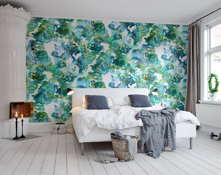 Lily Pond:  Walls by Rebel Walls, Scandinavian