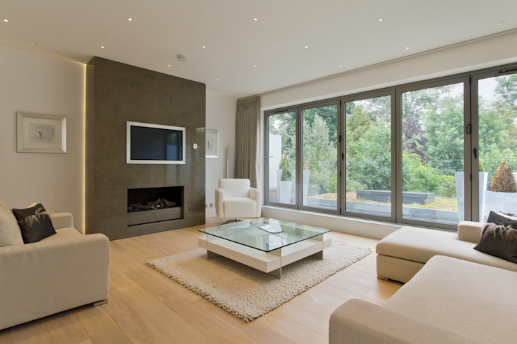 Living room Minimalist living room by DDWH Architects Minimalist