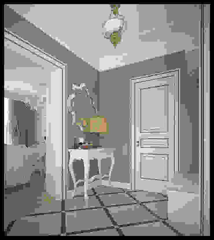 經典風格的走廊,走廊和樓梯 根據 Defacto studio 古典風