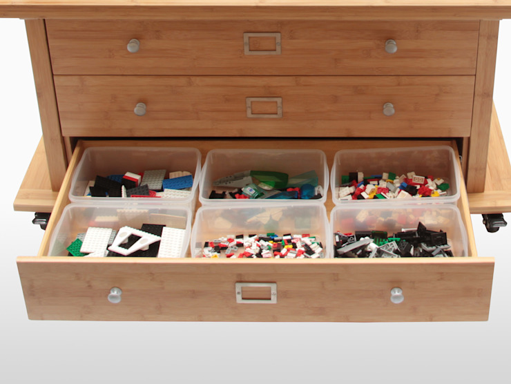 Activity Table & Toy Organiser CONSTRUCTION CENTRE por Finoak LTD Moderno