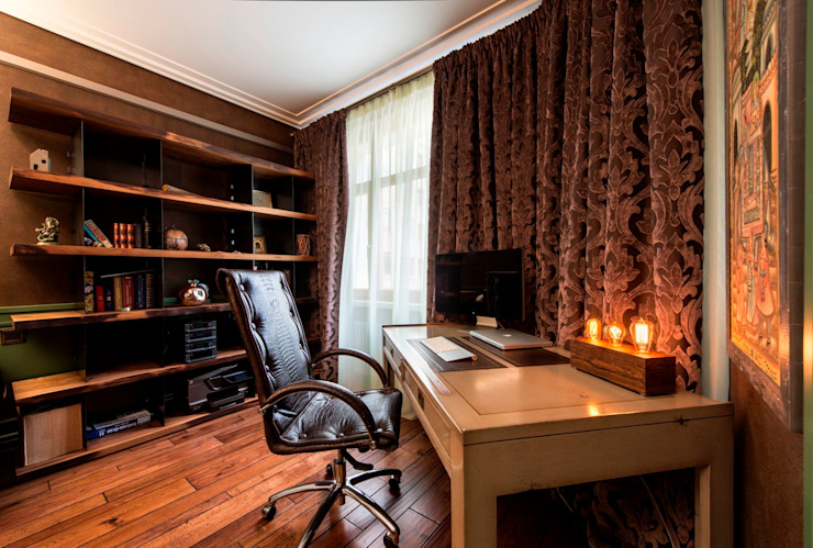 Colonial style study/office by Studio B&L Colonial
