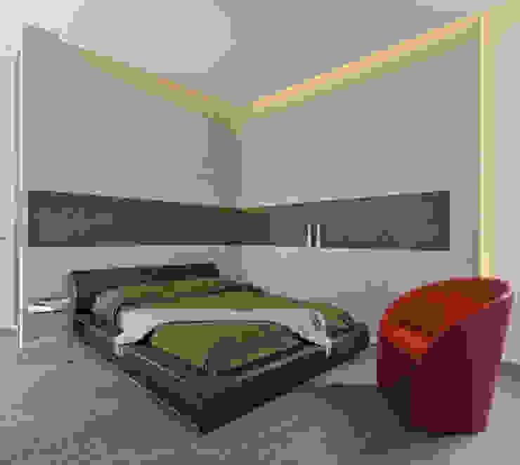 Casa Albega Camera da letto moderna di INO PIAZZA studio Moderno