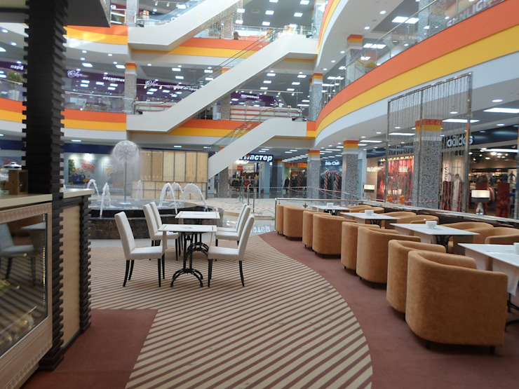 Дизайн кафе Ностальжи Столовая комната в стиле минимализм от Москоу Дизайн Минимализм