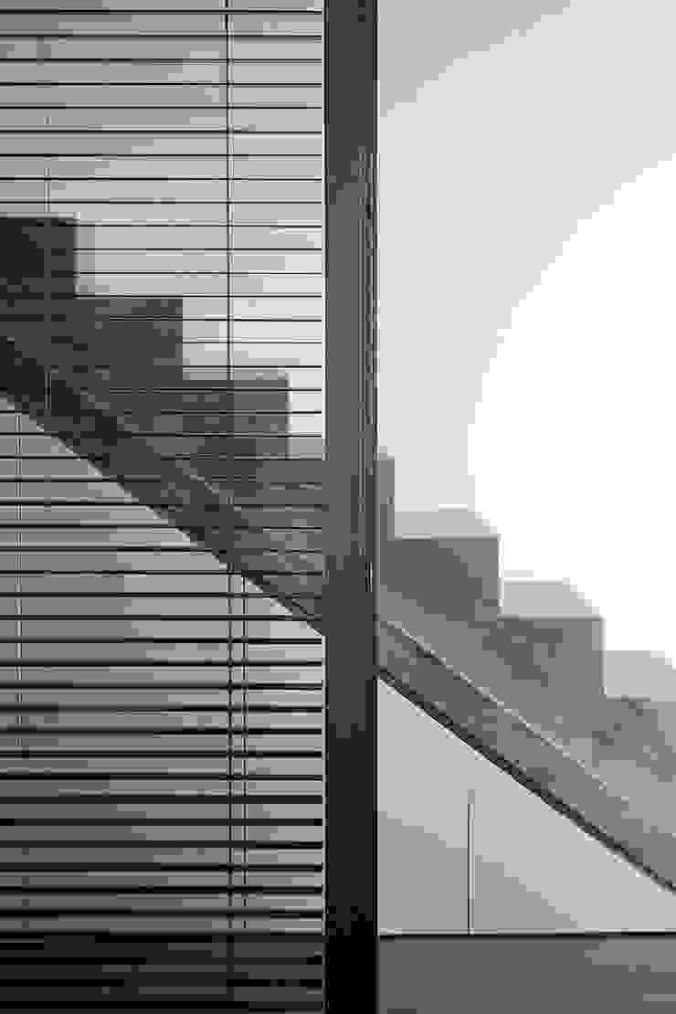Modern Corridor, Hallway and Staircase by adela cabré Modern