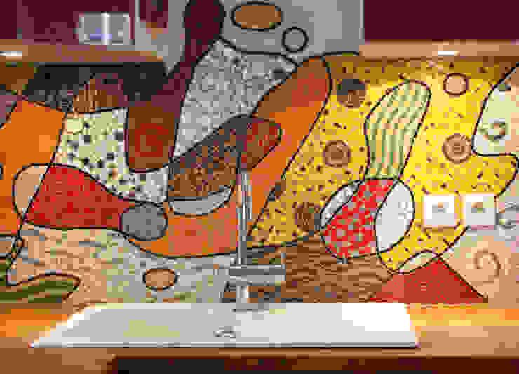 Fresque en mosaïque Cuisine originale par atelier lilikpó Éclectique