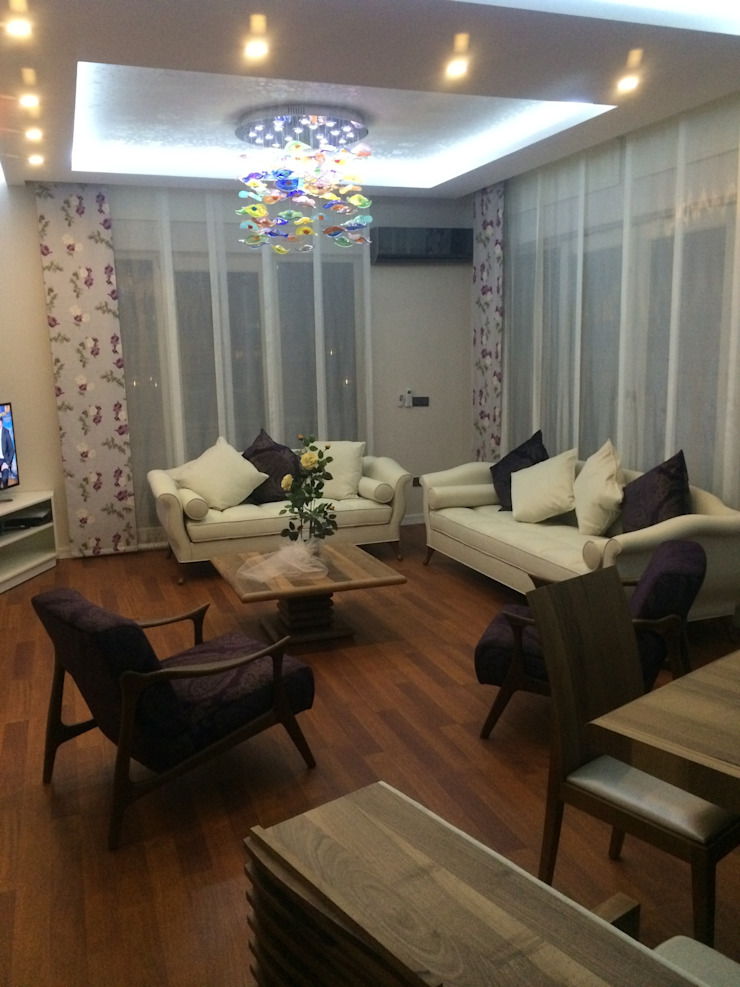 Salon dinlenme alanı Gizem Kesten Architecture / Mimarlik Modern Oturma Odası