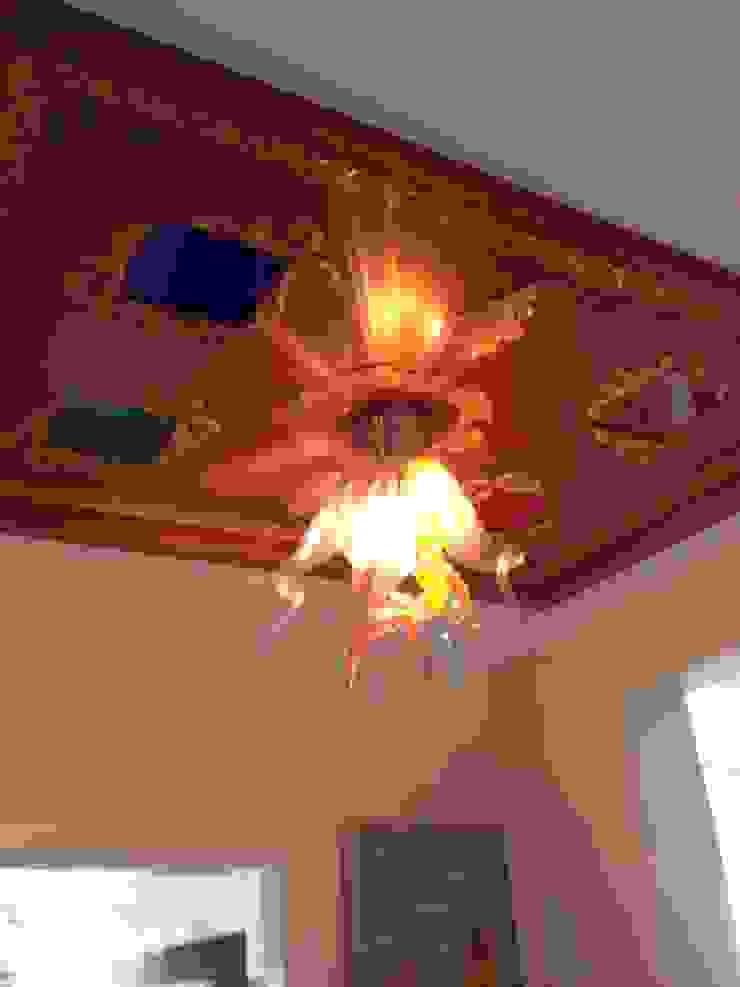 Gizem Kesten Architecture / Mimarlik – Antre tavan, 4 mevsim renkli camlı: modern tarz , Modern